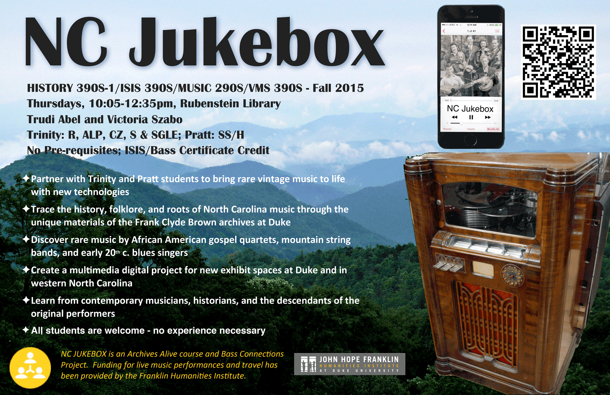 Digital History/Humanties: NC Jukebox