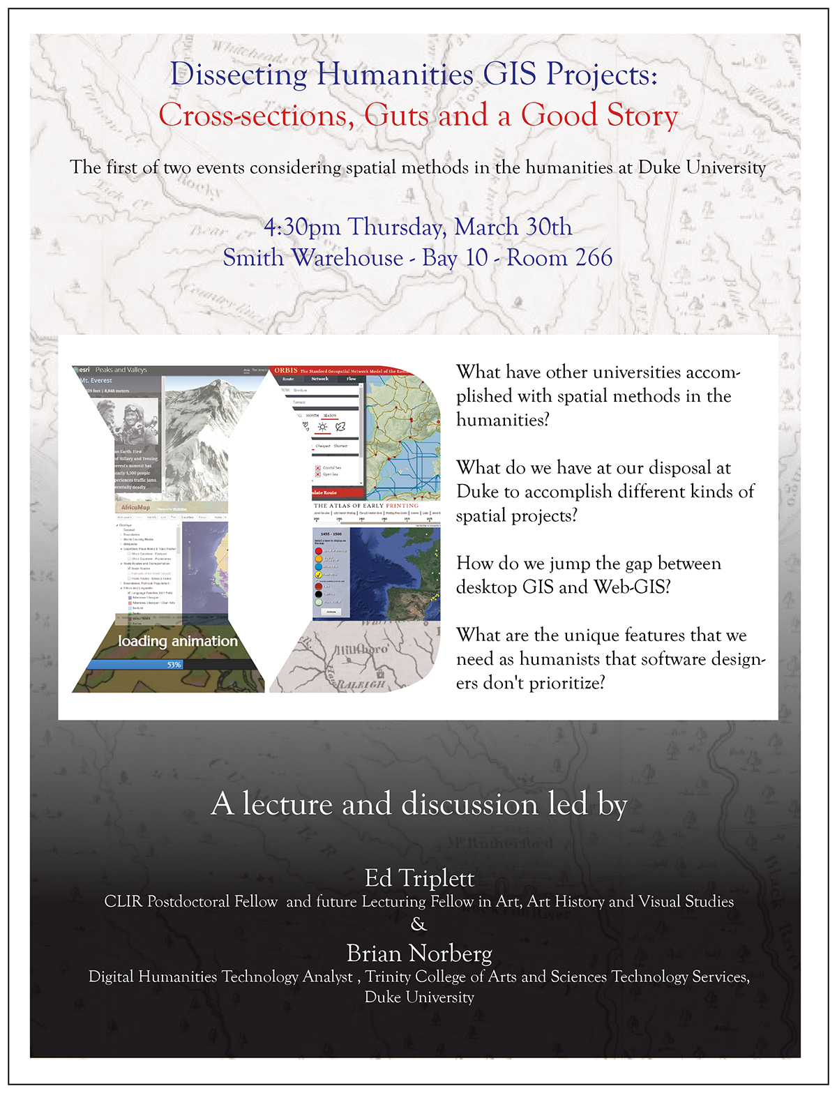 Humanities GIS/Digital Mapping Events Coming Up | Duke Information ...
