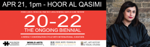 Hoor Al Qasimi (Lahore Biennial Curator & Sharjah Art Foundation Director) at 20-22 The Ongoing Biennial